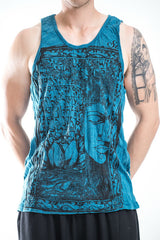 Sure Design Men's Sanskrit Buddha Tank Top Denim Blue
