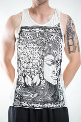 Sure Design Men's Sanskrit Buddha Tank Top White