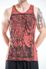 Sure Design Men's Sanskrit Buddha Tank Top Brick