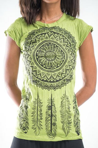 Sure Design Women's Dreamcatcher T-Shirt Lime