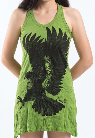 Sure Design Women's Eagle Tank Dress Lime