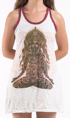 Sure Design Women's Ganesh Mantra Tank Dress White