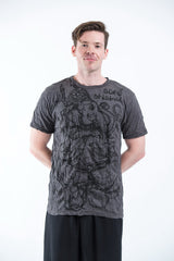 Sure Design Mens Lord Ganesh Sketch T-Shirt Black