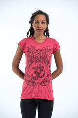 Sure Design Women's Ohm hands T-Shirt Red