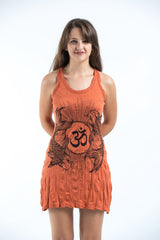 Sure Design Women's Ohm and Koi fish Tank Dress Orange