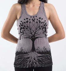 Sure Design Women's Tree of Life Tank Top Gray