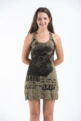 Sure Design Womens Gandhi Tank Dress Green