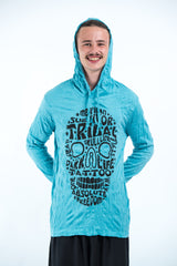 Sure Design Unisex Tribal Skull Hoodie Turquoise