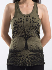 Sure Design Women's Tree of Life Tank Top Green
