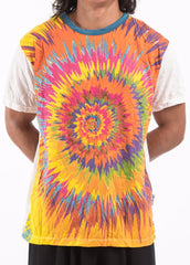 Sure Design Mens Rasta Spiral T-shirt White