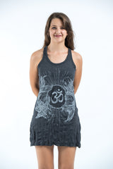 Sure Design Women's Ohm and Koi fish Tank Dress Silver on Black