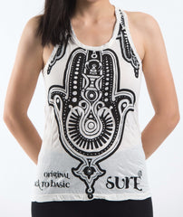 Sure Design Women's Three Hands Tank Top White