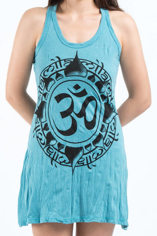 Sure Design Women's Infinitee Ohm Tank Dress Turquoise