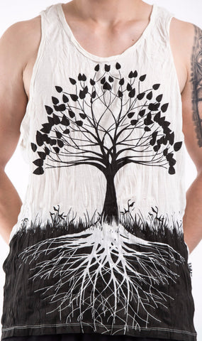 Sure Design Men's Tree Of Life Tank Top White