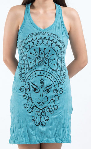 Sure Design Women's Durga Tank Dress Turquoise