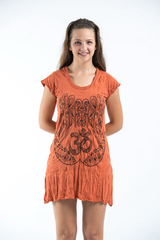 Sure Design Women's Ohm hands Dress Orange