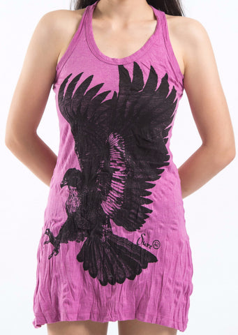 Sure Design Women's Eagle Tank Dress Pink