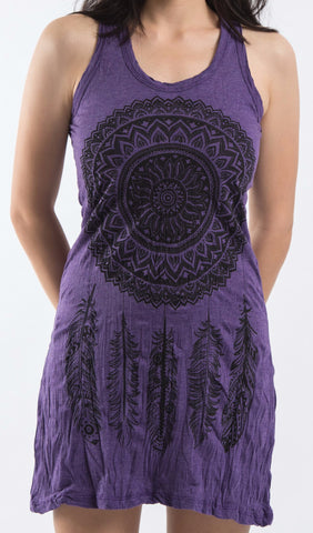 Sure Design Women's Dreamcatcher Tank Dress Purple