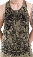 Sure Design Men's Batman Ganesh Tank Top Green