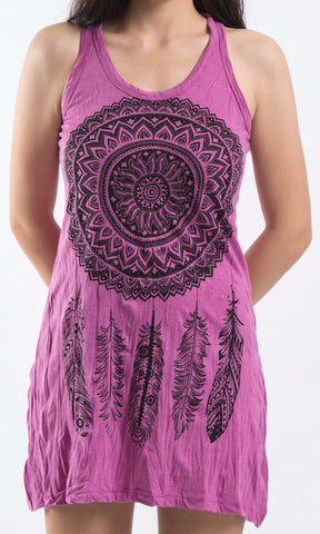 Sure Design Women's Dreamcatcher Tank Dress Pink