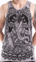 Sure Design Men's Batman Ganesh Tank Top Gray