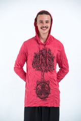 Sure Design Unisex Celtic Tree Hoodie Red