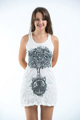 Sure Design Women's Celtic Tree Tank Dress White