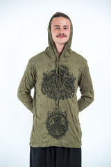 Sure Design Unisex Celtic Tree Hoodie Green