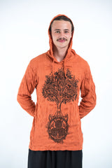 Sure Design Unisex Celtic Tree Hoodie Orange