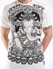 Sure Design Men's Batman Ganesh T-Shirt White