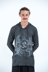 ad19834c Sure Design Unisex Ohm and Koi fish Hoodie Silver on Black
