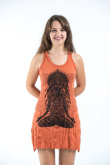 Sure Design Women's Ganesh Mantra Tank Dress Orange