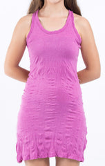 Sure Design Women's Blank Tank Dress Pink