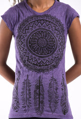 Sure Design Women's Dreamcatcher T-Shirt Purple