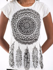 Sure Design Women's Dreamcatcher T-Shirt White