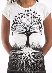 Sure Design Women's Tree of Life T-Shirt White