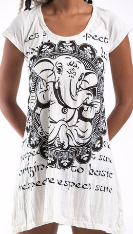 Sure Design Women's Avatar Ganesh Dress White