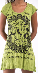 Sure Design Women's Avatar Ganesh Dress Lime