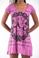 Sure Design Women's Avatar Ganesh Dress Pink