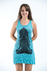Sure Design Women's Ganesh Mantra Tank Dress Turquoise