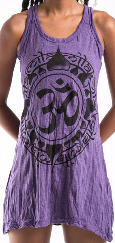 Sure Design Women's Infinitee Ohm Tank Dress Purple