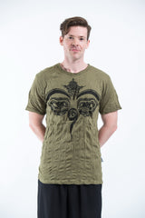 Sure Design Mens Buddha Eyes T-Shirt Green