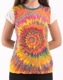 Wholesale Sure Design Women's Rasta Spiral T-shirt White - $8.00