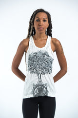 Sure Design Women's Celtic Tree Tank Top White