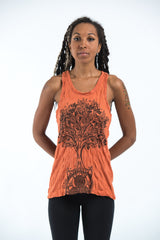 Sure Design Women's Celtic Tree Tank Top Orange