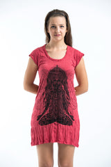 Sure Design Women's Ganesh Mantra Dress Red