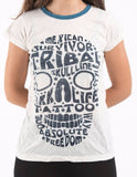Wholesale Sure Design Women's Tribal Skull T-shirt Blue on White - $7.00
