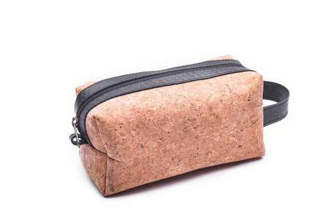 Upcycled Cork Rubber Toiletry Bag