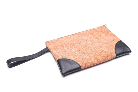 Upcycled Cork Rubber Clutch Bag