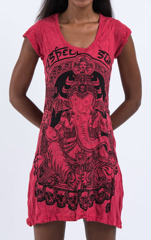 Sure Design Women's Batman Ganesh Dress Red